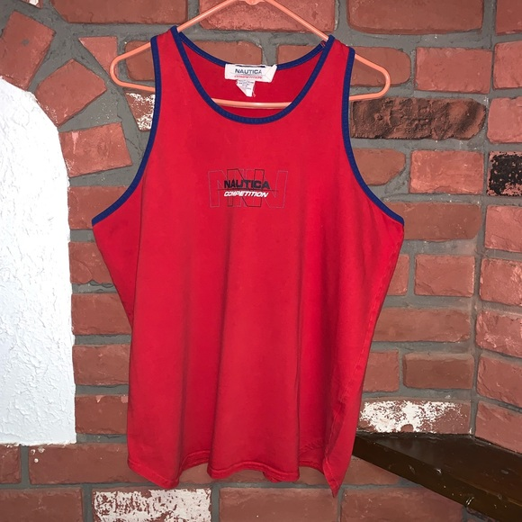 Vtg. Nautica Competition Wind Velocity Tank Top